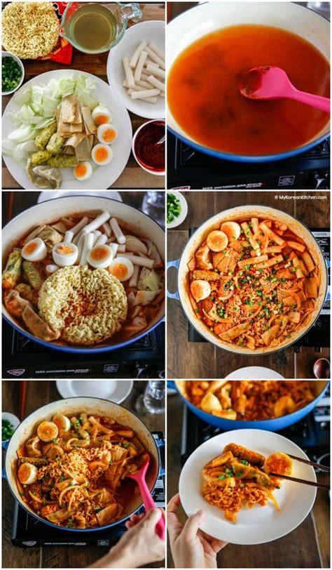 Korean Rice Cake Noodle Instant Mie Beras Korea rabokki ramen tteokbokki recipe ramen rice and instant ramen