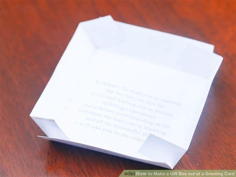 make a box out of card how to make a gift box out of a greeting card with pictures