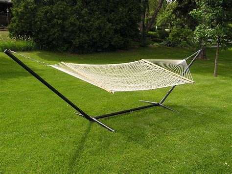 extra large 2p white cotton hammock set 15 foot ebay