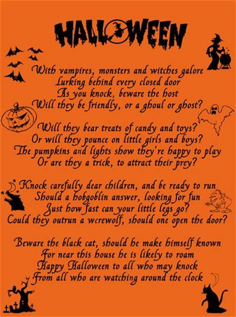 halloween poem halloween poems halloween rhymes scary