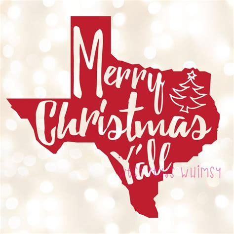 merry christmas yall svg texas christmas svg southern etsy