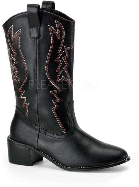 no slip boots west slip on toe embroidered no zipper cowboy