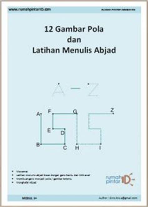Huruf Scrabble Kecil X 3 Huruf menulis huruf abjad a z dan latihan dengan 12 gambar pola