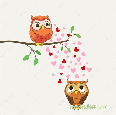 imagenes kawaii de buhos lindos buhos en la ilustraci 243 n de dibujos animados de amor