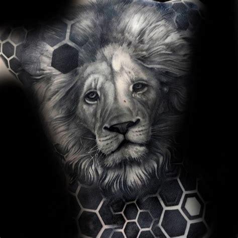 geometric realism tattoo 50 realistic lion tattoo designs for men felidae ink ideas