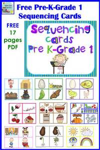 free sequencing and color matching cards for pre k k and