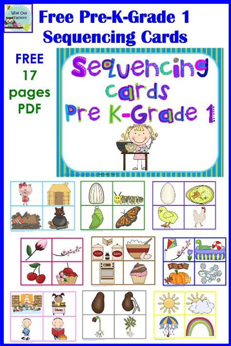 free printable cards for kindergarten free sequencing and color matching cards for pre k k and