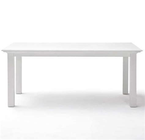 Halifax White Rectangular Dining Table 160 Cm Modern