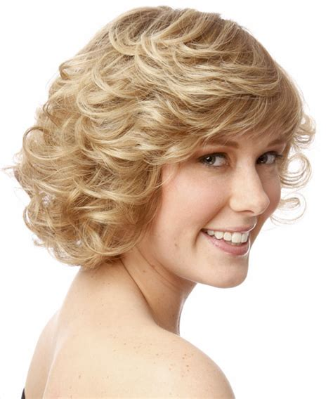 swoop bangs with short curly hair short curly formal hairstyle with side swept bangs light