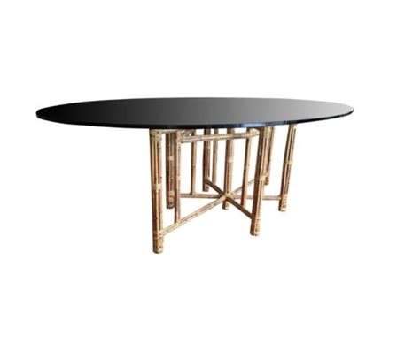 mcguire oval dining table design plus gallery