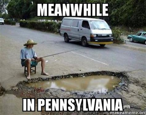 boat mechanic pittsburgh funny pic fishing potholes in pa my mental medley