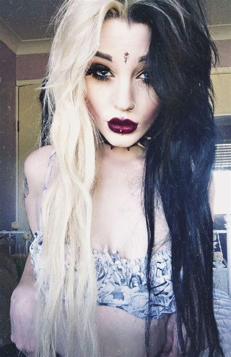 blonde goth hairstyles cruella deville hair color pinterest cruella deville