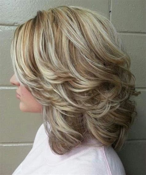 layered hairstyles for medium length hair for women over 60 50 cute easy hairstyles for medium length hair medium