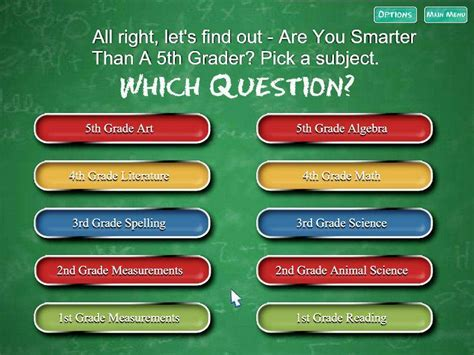 Are You Smarter Than A 5th Grader Game Giant Bomb Are You Smarter Than A 5th Grader Template