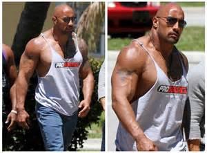 dwayne johnson vorher nachher bodybuilding junction dwayne douglas johnson aka the rock