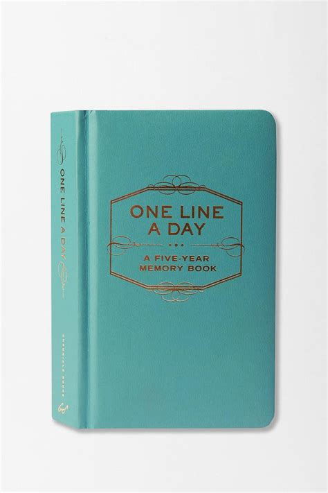 one line a day a five year memory book the ultimate