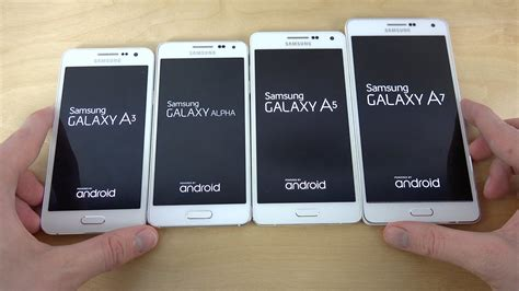 Samsung Galaxy A7 A5 Samsung Galaxy A7 Vs Galaxy Alpha Vs Galaxy A5 Vs
