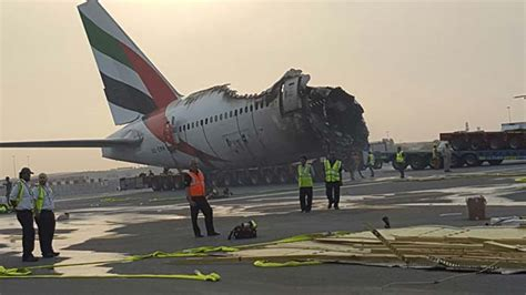 emirates flight 521 images of the emirates plane that burst into flames in