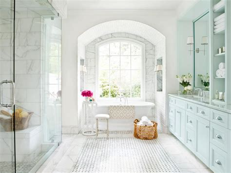 white spa bathroom spa inspired master bathroom hgtv