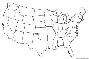 Usa Map Coloring Page map of united states for kids