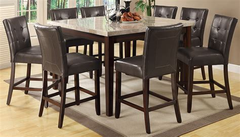 counter height dining room milton cappuccino counter height dining room set from