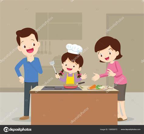 mama e hija cocinando familia e hija cocinando vector de stock 169 watcartoon
