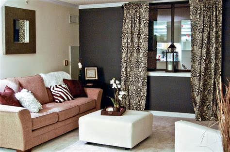 light colored leather sofa dark brown living room walls modern house