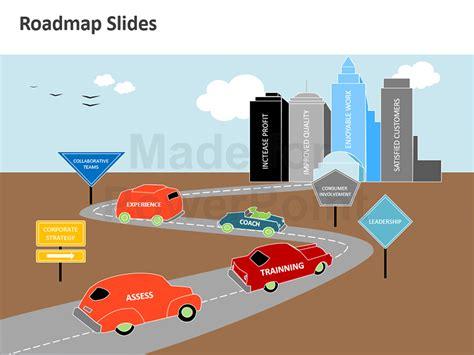 powerpoint roadmap analogy template editable slides