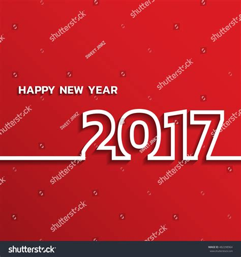 happy new year card vector happy new 2017 year greetings card stock vector 482298964