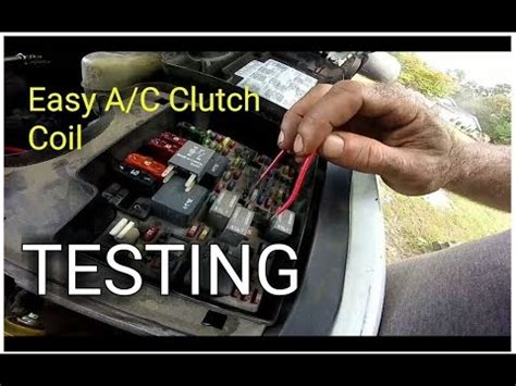 easy ac clutch coil test ac clutch  engaging youtube