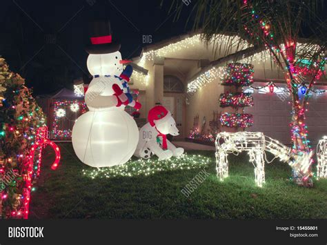 christmas decorations pictures front yard christmas decorations stock photo stock