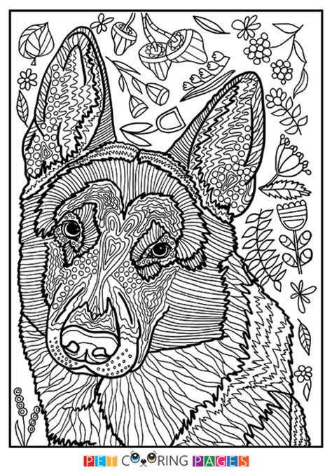 detailed coloring pages of dogs german shepherd dog coloring page zileart