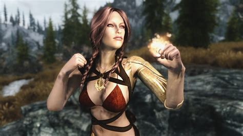 skyrim epic girls temptress race youtube