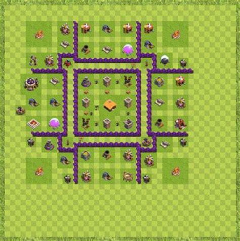 layout coc level 7 war base town hall level 7 by sayed rasikh war winner