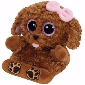 ty beanie boos 6 quot soft toy ty beanie boo peek boo smart phone holder nwmt ebay