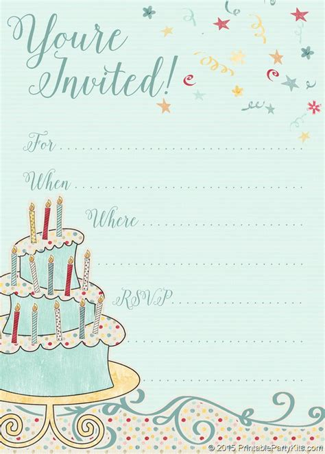 Birthdayparty Card Template Free by Free Printable Whimsical Birthday Invitation