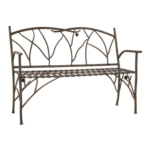 wrought iron bench pine bench