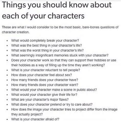Things You Should About Your Bmi by Things You Should About Each Of Your Characters