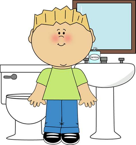 boys in bathroom clipart best