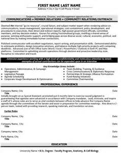 Community Relations Specialist Cover Letter by Top Relations Resume Templates Sles