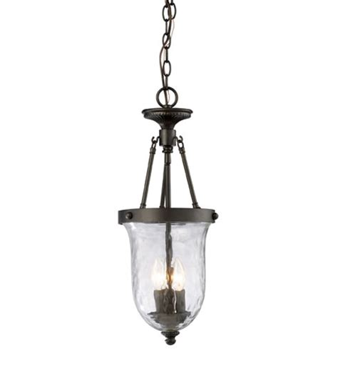 elk 66310 3 yorkville 3 light 9 inch oiled bronze pendant