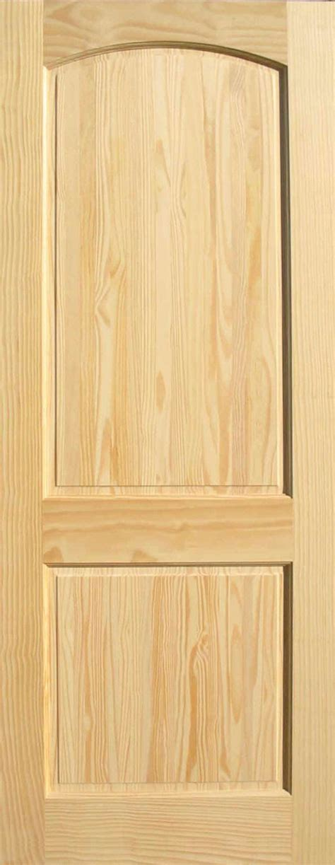 2 Panel Interior Wood Doors Pine Arch 2 Panel Wood Interior Doors Homestead Doors