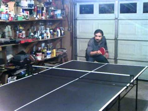 ping pong table in garage table tennis in garage