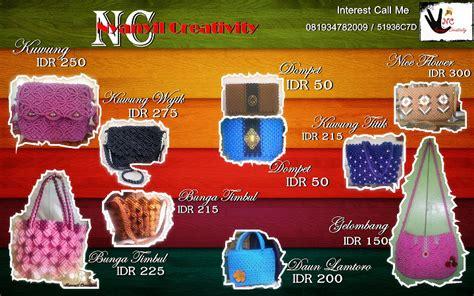 Tas Rajut Asli Handmade T010 handmade asli banyuwangi sejak 1999