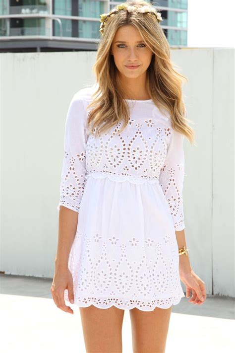 Trends For Summer Eyelet Accents When You Just Cant Commit Second Cty Style Fashion 3 by Best 25 White Summer Dresses Ideas On