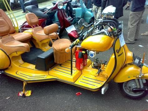 Foto Modifikasi Vespa Klasik by Modifikasi Motor Vespa Klasik