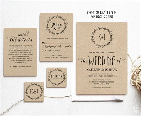 Hochzeitseinladung Vorlage by Classic Wreath Printable Wedding Invitation Template