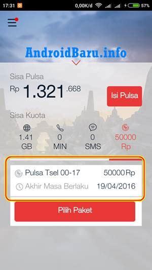 tutorial internet gratis android telkomsel cara mendapatkan pulsa 50 ribu gratis dari my telkomsel