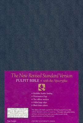 The New Revised Standard Version Pulpit Bible With