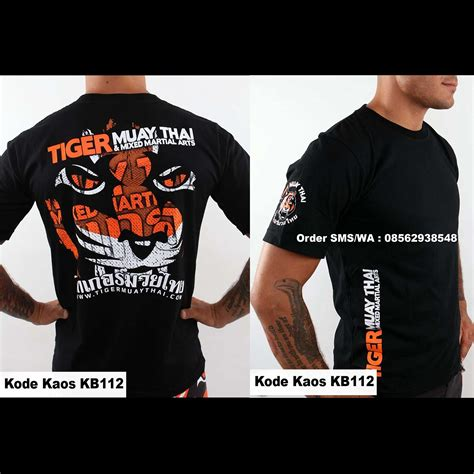 Kaos Muay Thai Baju Muaythai T Shirt Muay Thai Kb120 jual t shirt muay thai quot tiger muay thai phuket thailand
